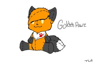 .:giftart / plushy:. GoldehPawz by PurrincessBunbun