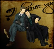 COMMISSION - Holmes and Watson (from Movie) by RizafromKeron