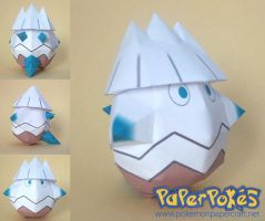 Snover chibi papercraft by P-M-F