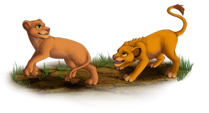 Simba and Nala by whicray