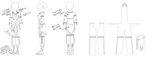 Leather Outfit Pattern by Drawtaru