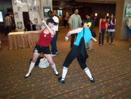AFest '10: Red and Blu Scouts by TEi-Has-Pants