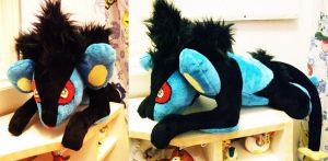 Luxray WIP plush by Chochomaru