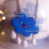 Cute cloud necklace by FocaccinaDesign by MGFM