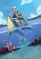 Pokemon: Travels over water by Vidolus