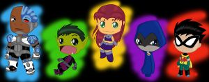 Teen titans by Mangetsu15