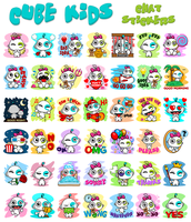 Cube Kids Chat Stickers by CrazEriC