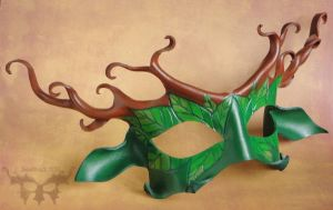 Stag Lord Leather Mask by Beadmask