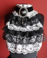 Classic victorian jabot by Pinkabsinthe