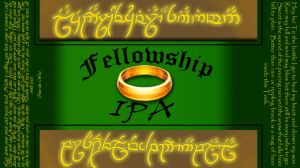Fellowship IPA beer label by GavynZelerond