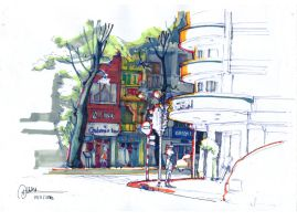 Street sketch 3 by dothaithanh