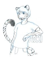 Conbadge Aoki Sketch by AokiBengal