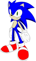 dreamcast sonic colored by K-NIGHT-WIND