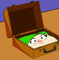 Suit case girl by Shockzboy