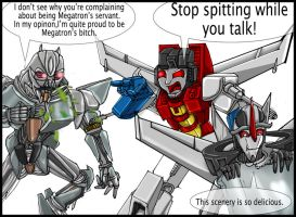 G1 VS Bayformers: Starscream by MikeOrion