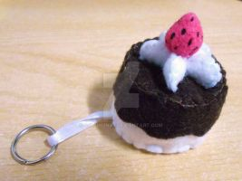 Felt Chocolate with Strawberry Shortcake Keyholder by 402ShionS3