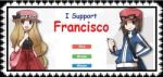 I Support Francisco- huge stamp by VioShadowLover