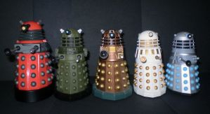 Daleks New And Classic by CyberDrone