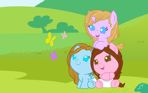 Me and my baby friends by v-Iris-v