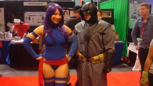Psylocke and Bats by ShawnAtkinson