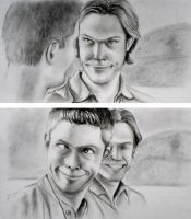 Jared and Jensen - funny faces by Monireh01