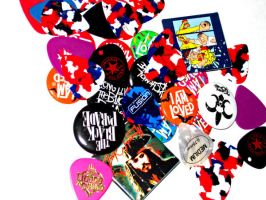 Buttons and Guitar Picks by WayAwesomeEmo