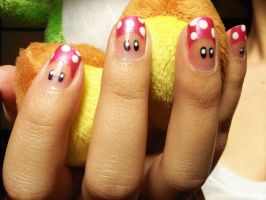 Pink Mushroom Nails by Windelle