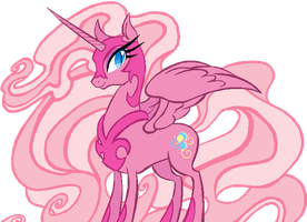 Nightmare Moon in G3 Pinkie Pie's colors by AdolfWolfed4Life