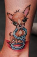 chihuahua tattoo by Robert-Franke