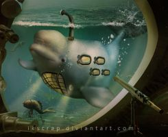 whale submarine by SoulcolorsArt