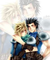 FA : FF7 Zack x Cloud by OH-EcstasYYY