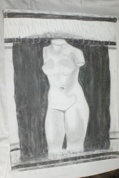Charcoal drawing 3- Bust 1 by Katsmoka