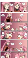 Black Lady versus Chibiusa by ArthurT2013