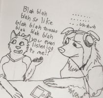 when people talk to me while I wear headphones by Colliequest