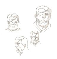 Slade Wilson Sketches by galacticChicken