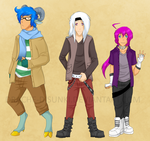 Two Punks and a Nerd by Drache-Disunki