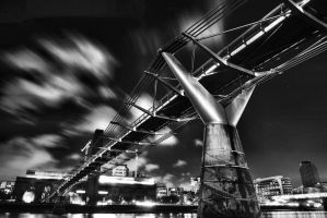 Millennium Bridge revisited in bw by Rajmund67