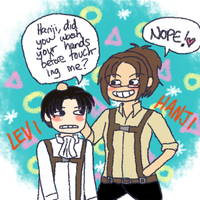 [SNK] Levi + Hanji by melonstyle