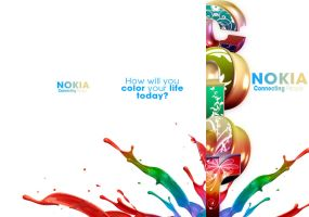 Nokia color phone flyer by Technotonic