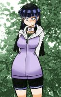 Hinata in the forest by mangapym