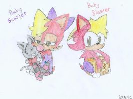 Blazer Twins: Babies by ADSHedgehog