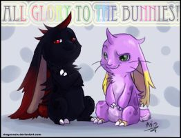 All glory to the bunnies by DragonAsis