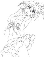 Kurumu line art 2 by BlackLagoon25