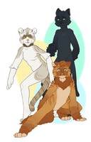 Atlas, Alto and Sheena by Seffiron