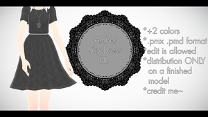 |MMD| Amber Sky Dress Download by Dastezi
