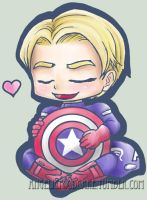 Cap hearts his shield by AngelicFoodCake
