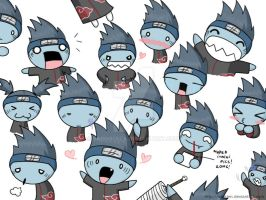 The many faces of Kisame by saurien
