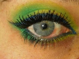 Green Eye Make-up by vivalablonde