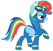Vector - Rainbow Fash by SketchMCreations