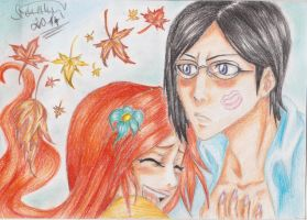 Prize: Orihime and Uryu by NeoAngeliqueAbyss